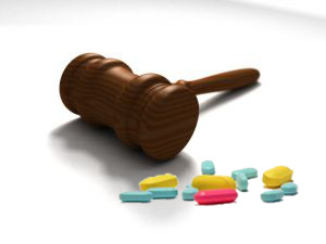 gavel and pills